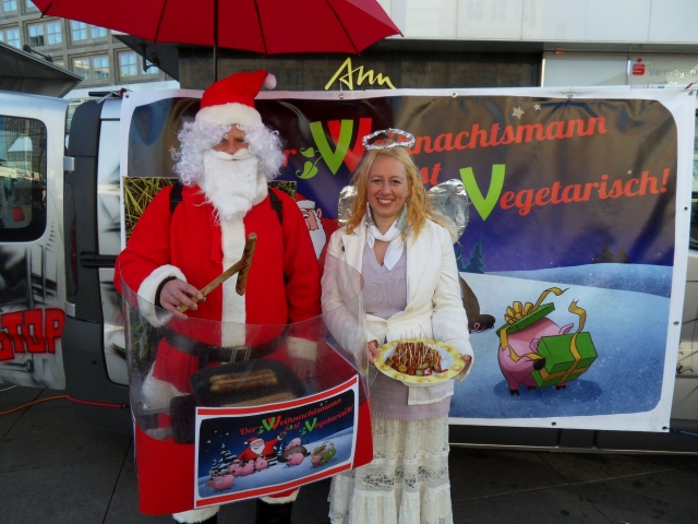 Tier Infos & Tier News @ Tier-News-247.de | Kampagnenstart: Der Weihnachtsmann isst vegetarisch
