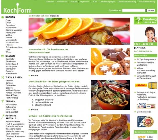 Einkauf-Shopping.de - Shopping Infos & Shopping Tipps | KochForm.de Startseite