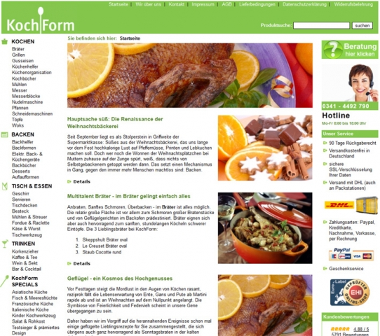Einkauf-Shopping.de - Shopping Infos & Shopping Tipps | www.kochform.de Startseite