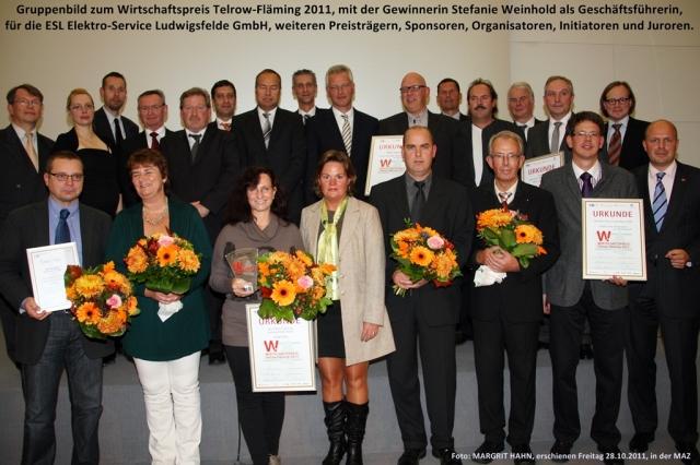 Berlin-News.NET - Berlin Infos & Berlin Tipps | Gruppenbild von der Wirtschaftspreisverleihung Teltow-Fläming 2011