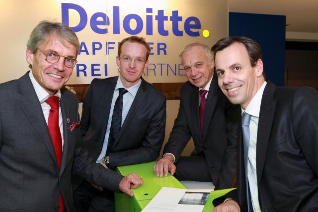 Oesterreicht-News-247.de - Österreich Infos & Österreich Tipps | Gehen eine starke Partnerschaft unter dem Dach von Deloitte Österreich ein (v.l.): Peter A. Grüner, Andreas Kapferer, Rolf Kapferer und Gunnar Frei.