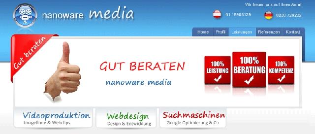 Berlin-News.NET - Berlin Infos & Berlin Tipps | Nanoware media bietet Webdesign, Suchmaschinenoptimierung und Videoproduktion aus einer Hand