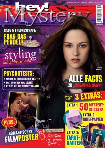 Die Panini Verlags GmbH bringt zum Kinostart des vierten Teils der Twilight-Saga das Magazin hey!Mystery heraus.