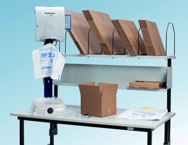 Einkauf-Shopping.de - Shopping Infos & Shopping Tipps | Im kompakten Tischgerät Foamplus Mini von Storopack sind die Schaumkomponenten integriert.