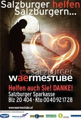Salzburger Wämestube - Wärme und Geborgenheit für bedürftige Menschen