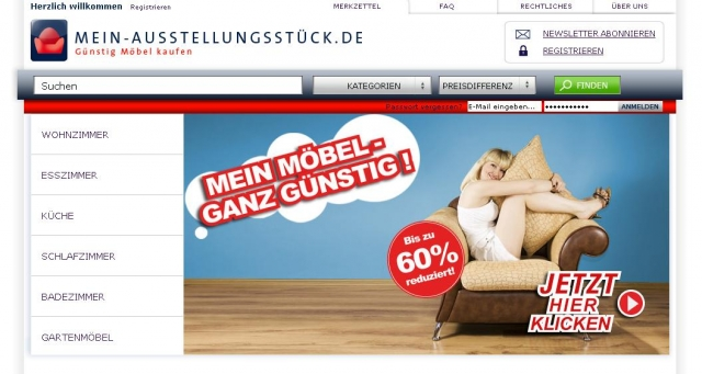Flatrate News & Flatrate Infos | Mein Möbel - ganz günstig  Schnäppchenjäger brauchen Geduld  - www.mein-ausstellungsstück.de
