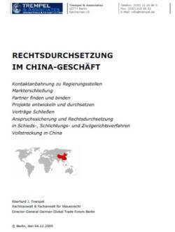 Ost Nachrichten & Osten News | Ost Nachrichten / Osten News - Foto: China-Geschäft: Erfolgreich Klagen, Verhandeln und Vollstrecken.