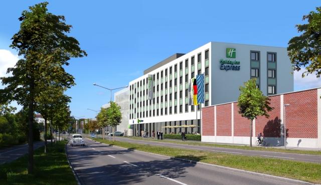 Hotel Infos & Hotel News @ Hotel-Info-24/7.de | WOLFF & MÜLLER baut in der Fuggerstadt ein Holiday Inn Express mit 136 klimatisierten Zimmer und vier Tagungsräumen.