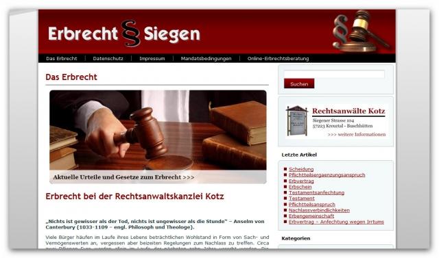 Erbrechtsberatung in Siegen und Kreuztal
