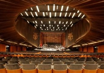 Ciao-Bella-Fans.de | Auditorium der neuen Oper in Florenz: Avantgardistisch anmutender Saal