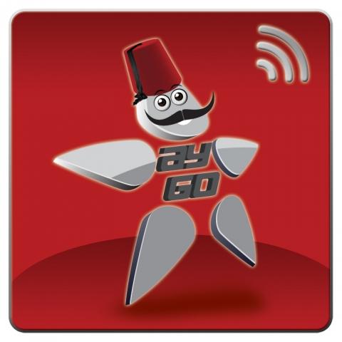 App News @ App-News.Info | das logo besteht aus einem Sternen-Männchen mit einem typisch osmanischem Hut und dem entsprechenden Schnurrbart