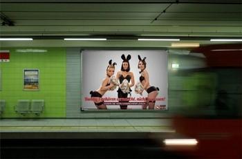 Sport-News-123.de | Heiße Bunnys plakatieren für den Tierschutz - Kaninchenmast, nein danke