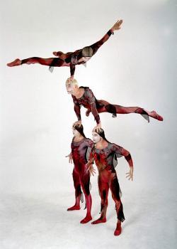 Ost Nachrichten & Osten News | Foto: Die Viererakrobatikgruppe Atlantis gehört zu den Höhepunkten der 12. Sportgala