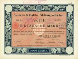 Historisches @ Historiker-News.de | Historiker News DE. Foto: Zeitzeuge deutscher Wirtschaftsgeschichte: Dekorative Gründeraktie der Siemens & Halske AG aus dem Jahr 1897.