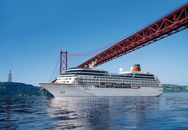 Indien-News.de - Indien Infos & Indien Tipps | Die MS Columbus 2, hier vor Lissabon, ist Thema am 26. Januar.
