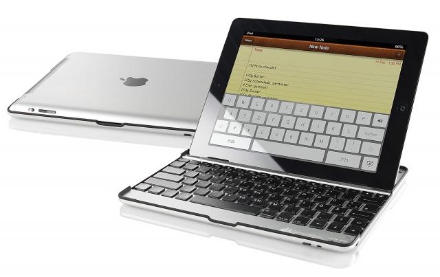Hardware Infos & Hardware Tipps @ Hardware-News-24/7.de | GeneralKeys Alu-Schutzcover ISC-288 m. integrierter Tastatur für iPad2