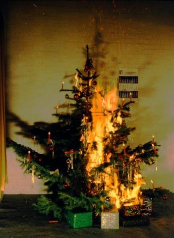 Duesseldorf-Info.de - Düsseldorf Infos & Düsseldorf Tipps | Es ist schnell passiert: Vorsicht bei brennenden Kerzen am Weihnachtsbaum.
