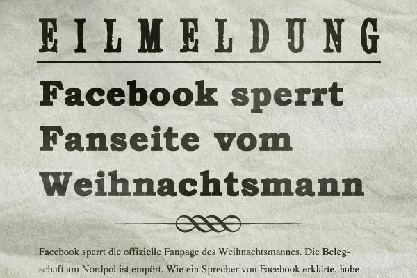 Rheinland-Pfalz-Info.Net - Rheinland-Pfalz Infos & Rheinland-Pfalz Tipps | Facebook schliesst Weihnachtsmann aus