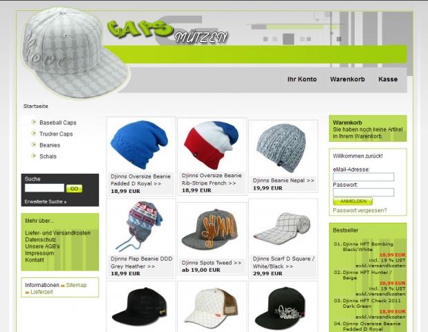Shopping -News.de - Shopping Infos & Shopping Tipps | Caps-Muetzen.de startet nach Übernahme und Relaunch neu durch