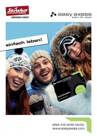 Tickets / Konzertkarten / Eintrittskarten | Die SkiWelt Wilder Kaiser-Brixental nutzt als erstes Skigebiet das neue Freizeit-Portal von easy axess.