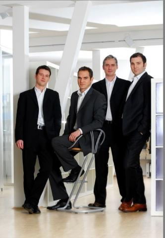 Hotel Infos & Hotel News @ Hotel-Info-24/7.de | Geschäftsführung der Up2date Solutions GmbH (v.l.n.r.): Wolfgang Burger, Stephan Ottenschläger, Andreas Mändlein und Uwe Waffenschmidt