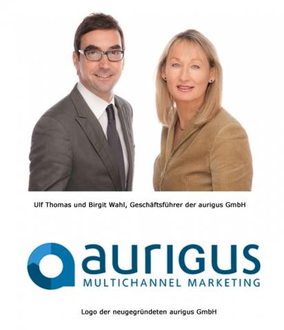 Schweiz-24/7.de - Schweiz Infos & Schweiz Tipps | Ulf Thomas und Birgit Wahl, Geschäftsführer der aurigus GmbH und Logo der aurigus GmbH