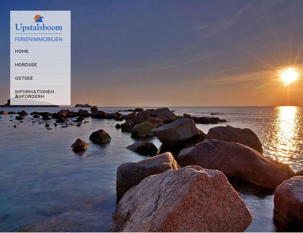 CMS & Blog Infos & CMS & Blog Tipps @ CMS & Blog-News-24/7.de | Bei der Neugestaltung der Webseiten von Upstalsboom Ferienimmobilien wurde Wert auf stimmungsvolle Bilder gelegt. Der Besucher soll Lust auf eine Ferienimmobilie am Meer bekommen.