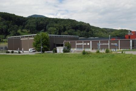 Europa-247.de - Europa Infos & Europa Tipps | Blick auf die Produktionsanlage von Korff in Oberbipp in der Schweiz