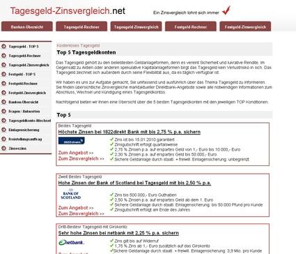 Grossbritannien-News.Info - Großbritannien Infos & Großbritannien Tipps | Tagesgeld-Zinsvergleich.net - Tagesgeld und Festgeld im Vergleich