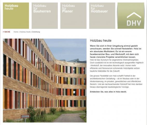 Das Portal zum Thema Holzbau in Deutschland: www.d-h-v.de