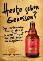 Bier-Homepage.de - Rund um's Thema Bier: Biere, Hopfen, Reinheitsgebot, Brauereien. | Foto: Das Logo von ROTER OKTOBER grenz sich von allen Konventionen ab.