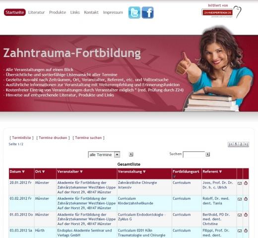 Musik & Lifestyle & Unterhaltung @ Mode-und-Music.de | Bild der Website Zahntrauma-Fortbildung