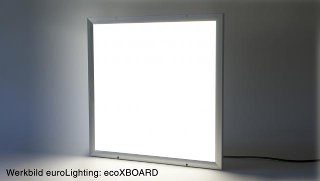 euroLighting Flächenleuchte ecoXboard haucht Atmosphäre ein.