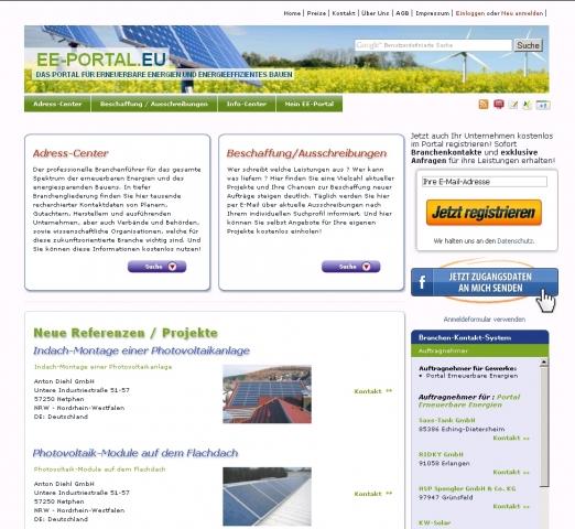 Tarif Infos & Tarif Tipps & Tarif News | Screenshot EE-PORTAL.EU