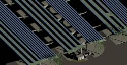 Alternative & Erneuerbare Energien News: Foto: Skizze des neuen Solardaches am Stuttgarter Großmarkt.