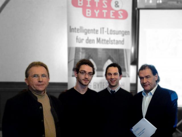 Auto News | Im Bild v.l.n.r.: Hubert Girschtzka, Nikolai Schöbel, Ferdinand Freiherr von Aretin, Reinhold Walter