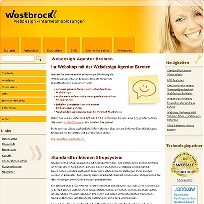 Shopping -News.de - Shopping Infos & Shopping Tipps | SEO PR Artikel zur Siegelmanie Wostbrock Webdesign Internetshoplösungen