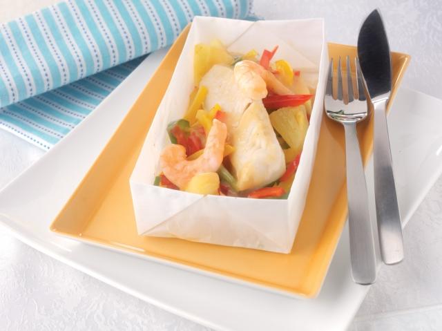 Europa-247.de - Europa Infos & Europa Tipps | Holt die Karibik in die heimische Küche: die Seehecht-Garnelenpapilotte Karibik von eismann.