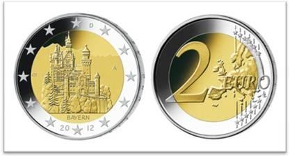Australien News & Australien Infos & Australien Tipps | 2-Euro-Gedenkmünze Neuschwanstein - Bildquelle www.mdm.de