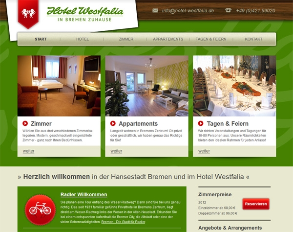 App News @ App-News.Info | Die Homepage vom Hotel Westfalia