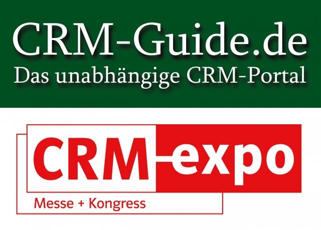 Logo vom Portal CRM-Guide.de und der Fachmesse CRM-expo.