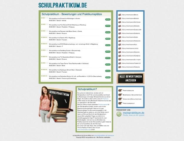 Sport-News-123.de | Screenshot des Portals schulpraktikum.de