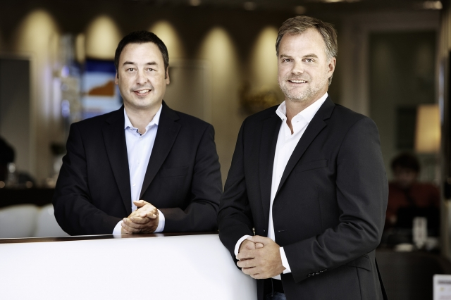 Berlin-News.NET - Berlin Infos & Berlin Tipps | Erzielten ein Rekordergebnis bei casualfood:  die beiden Geschäftsführer Michael Weigel (li.) und Stefan Weber (re.)