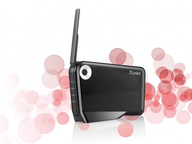 Musik & Lifestyle & Unterhaltung @ Mode-und-Music.de | 7Links NAS-Server & WLAN-Festplatte NFP-500.AP mit AccessPoint, USB2.0