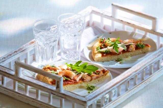 Berlin-News.NET - Berlin Infos & Berlin Tipps | Pizza mit Garnelen & Ruccola-Pistou