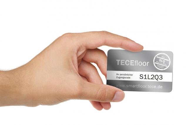 Technik-247.de - Technik Infos & Technik Tipps | Komplettauslegung TECEsmartfloor: ein persönlicher Zugangscode ermöglicht die Nutzung des Online-Systems.