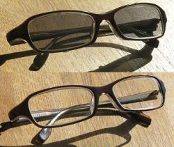 Einkauf-Shopping.de - Shopping Infos & Shopping Tipps | Foto: Designerbrille mit und ohne Sunclipies - es ändert sich praktisch nur die Glasfarbe.