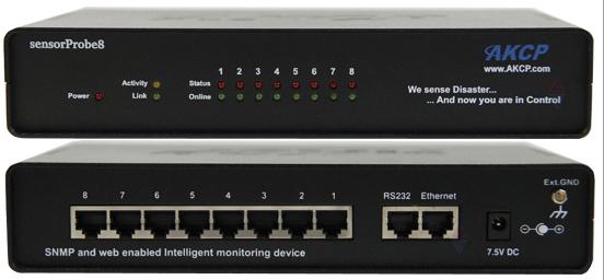 Die AKCP sensorProbe8 ist eine der möglichen Appliances für die anschließbaren IP Sensoren | Freie-Pressemitteilungen.de