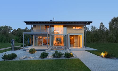 Fertighaus, Plusenergiehaus @ Hausbau-Seite.de | Zukunftsweisend Bauen! Nahezu energieautarkes Öko-Designhaus