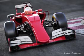 Formel 1-Autos sind heute zu einem großen Teil mit CFK ausgestattet. Foto: © storm – Fotolia.com  | Freie-Pressemitteilungen.de